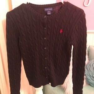 Girls sz L(12-14) Ralph Lauren cardigan sweater.